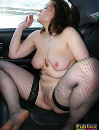 Going out for a ride while naked
